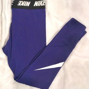 Nike High Waist Club Leggings Blue Void Size Large
